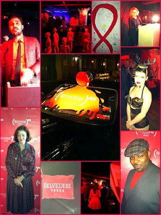 @tfnow &#39;On the Scene&#39; to celebrate World Aids Day (RED) Party with Belvedere Vodka.