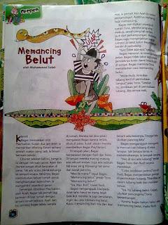 Memancing Belut- Majalah Bobo