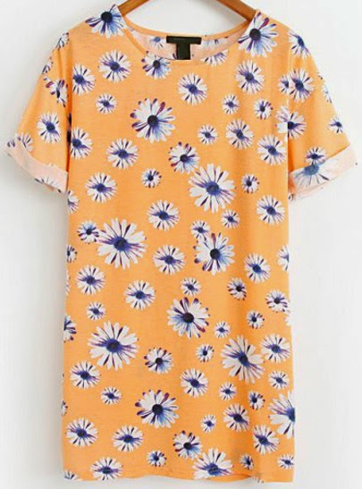 http://www.sheinside.com/Orange-Short-Sleeve-Daisy-Print-Flange-Dress-p-164964-cat-1727.html