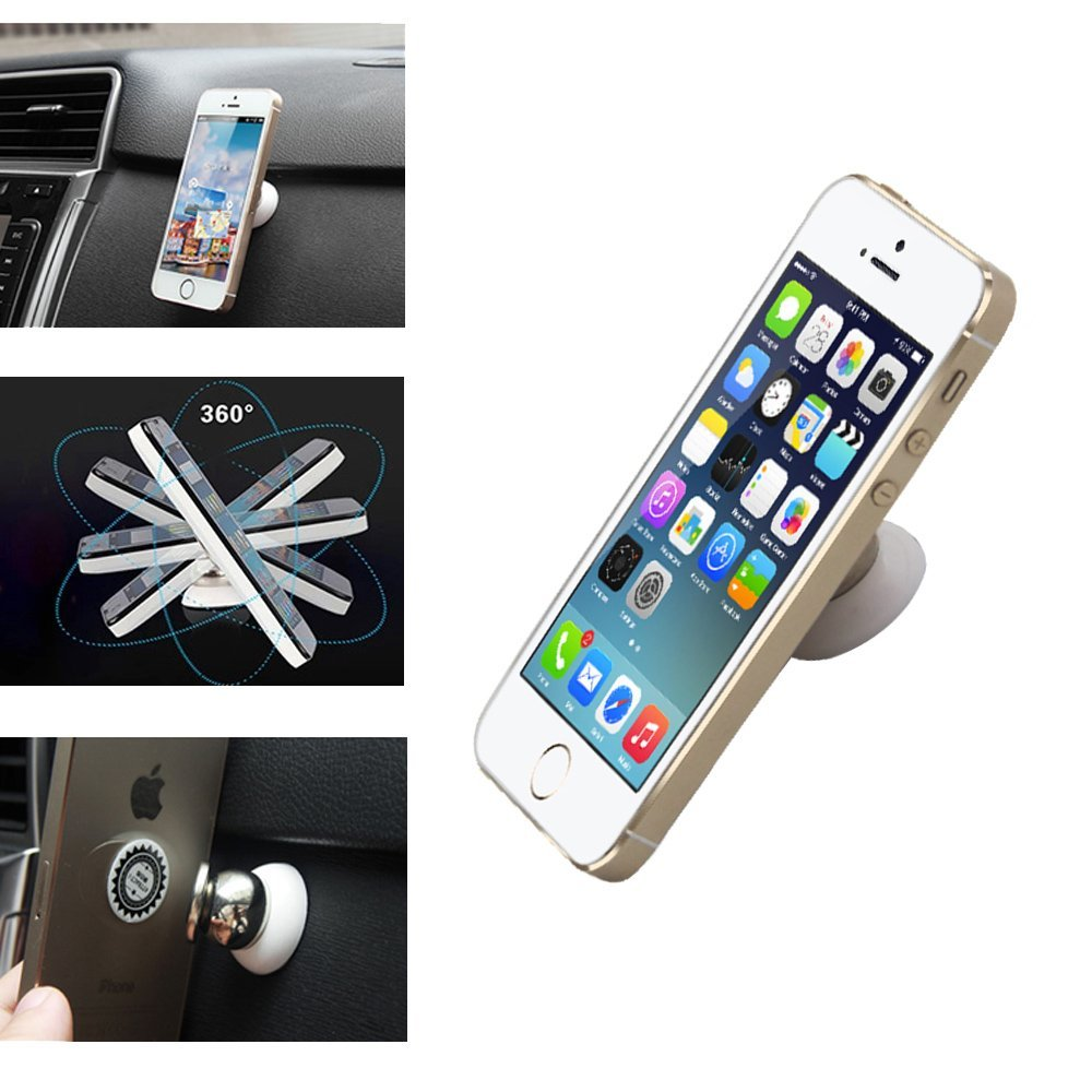 Magnetic rotary mobile phone car holder 14