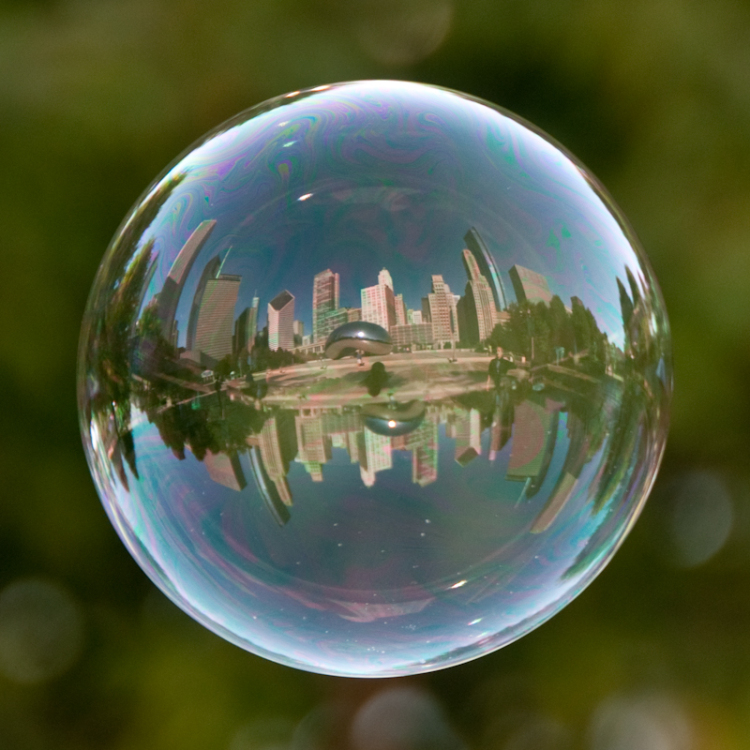 Amazing Cloud Photography: Reflection Of Bubbles