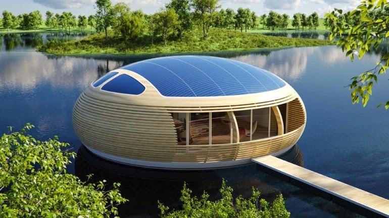 Konsep Rumah Terapung Untuk Masa Depan yang Ramah Lingkungan