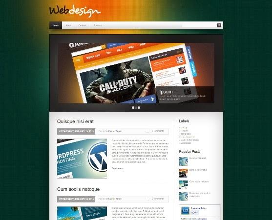 WebDesign Blogger Template