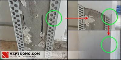 Hình ảnh thi công nẹp SW2020, SG2020 cho thạch cao/ bả matit