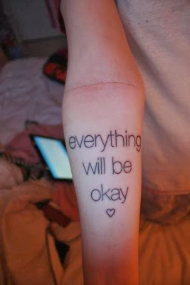 Typographic message tattoo