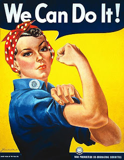 Rosie the Riveter propaganda ad