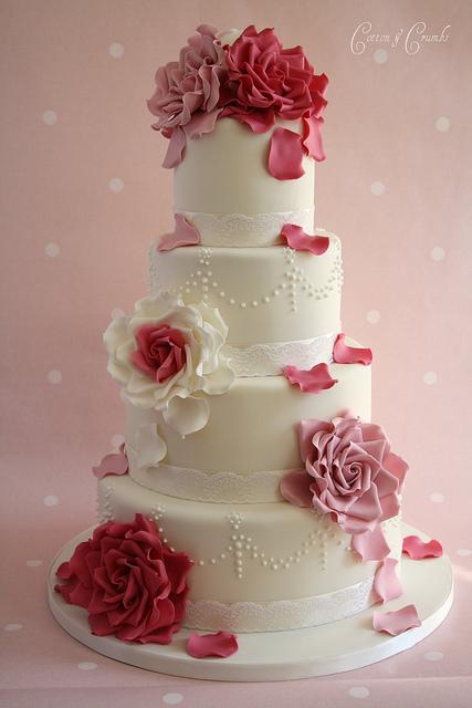 Rose Petal Cake Images : Amorra Weddings: Pretty in Pastels