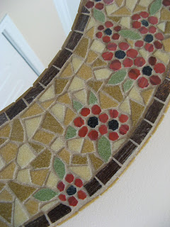 Mosaic Mirror Project - close up