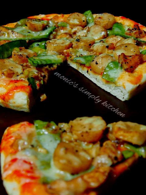 pizza ayam lada hitam