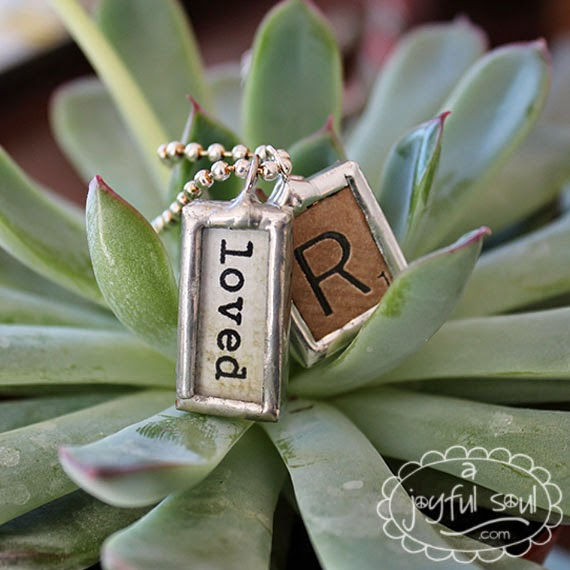 Word Charms and Vintage Letter Charms by A Joyful Soul.com