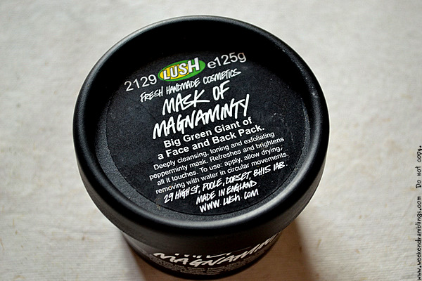 Lush Face Mask of Magnaminty Green Oily Skin Reviews