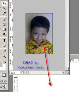 Tutorial membuat pas foto Dengan Photoshop