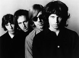 Fotografía en blanco y negro de The Doors en 1966
