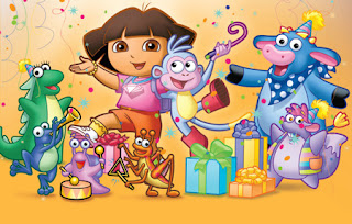 Dora Birthday Party Dvd Image Inspiration of Cake and Birthday