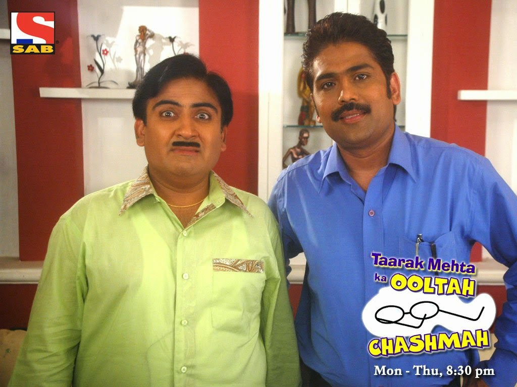 Tarak Maheta Ka Oolta Chasma TV Serial Jethalal with Tarak Maheta HD Photos
