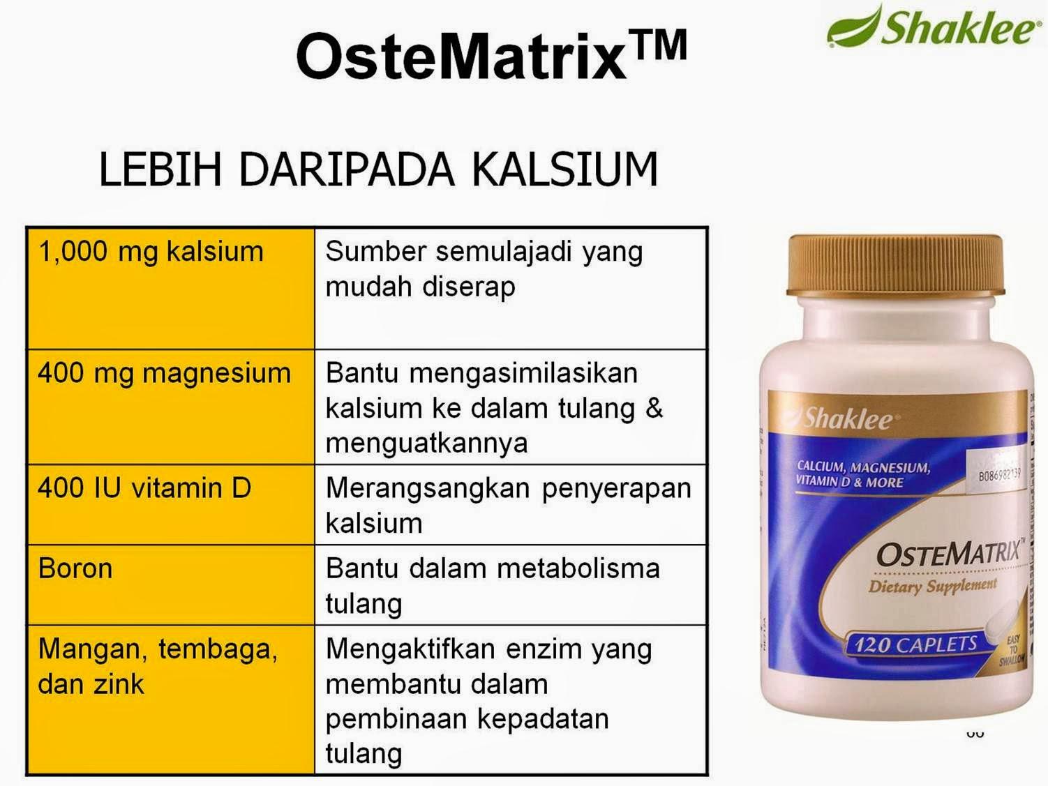 KANDUNGAN OSTEMATRIX, SET SENDI, OSTEOPROSIS