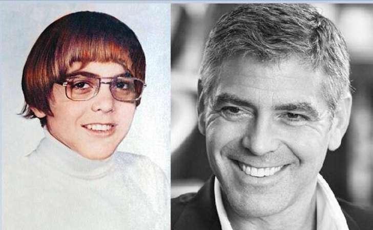 George Clooney  george Clooney cuando era un niños