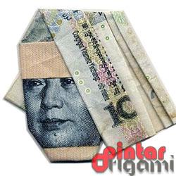 Origami Uang Kertas Unik