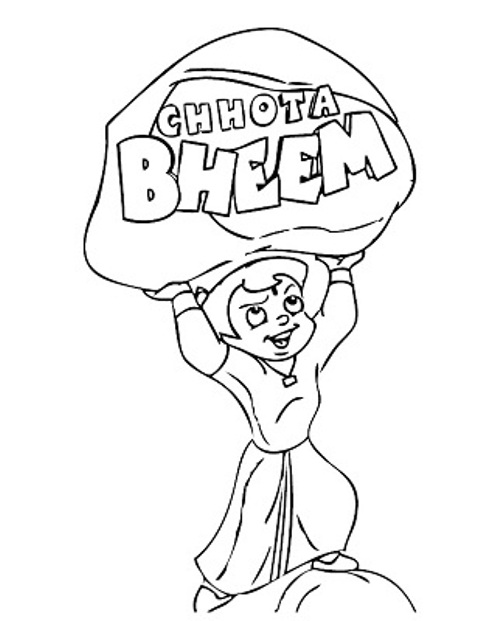 Chota Bheem Coloring Pages for Kids title=