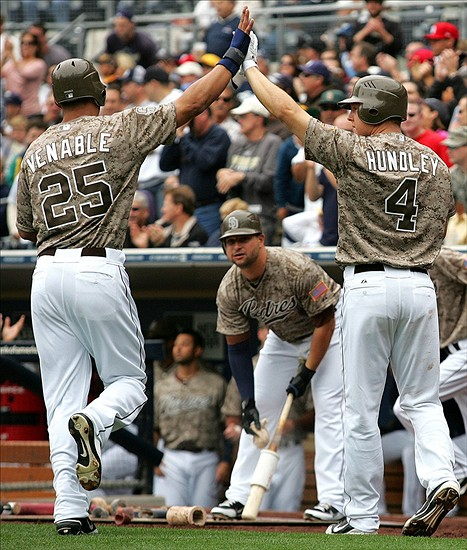 San Diego Padres in Camo Uniforms