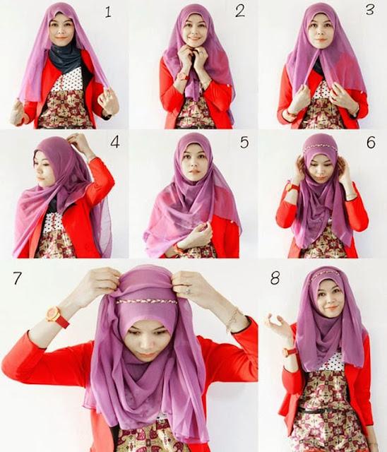 Style Modern Hijab Segi Empat Untuk Remaja