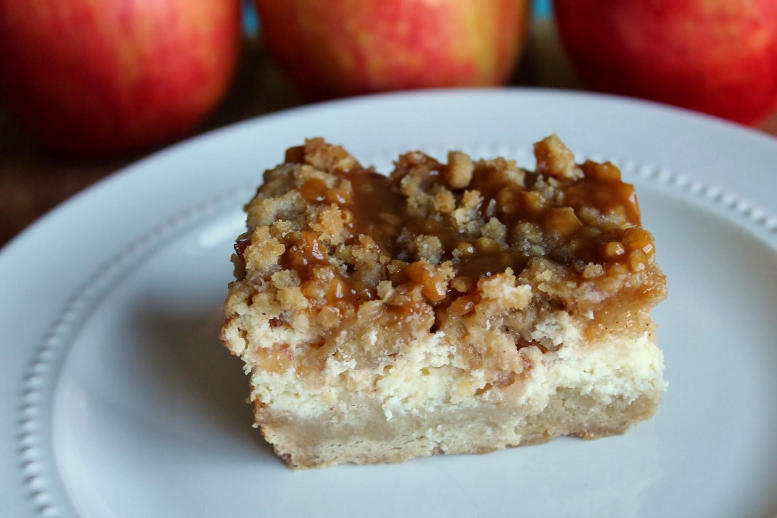 Bakestravaganza: Caramel Apple Cheesecake Bars