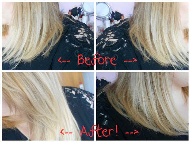 before and after moroccan oil argan avon blonde dry bleached hair
