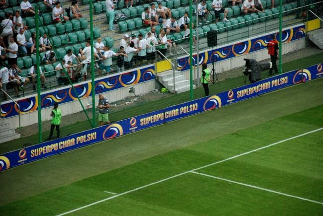 Bandy reklamujące Superpuchar Polski - fot. Tomasz Janus / sportnaukowo.pl