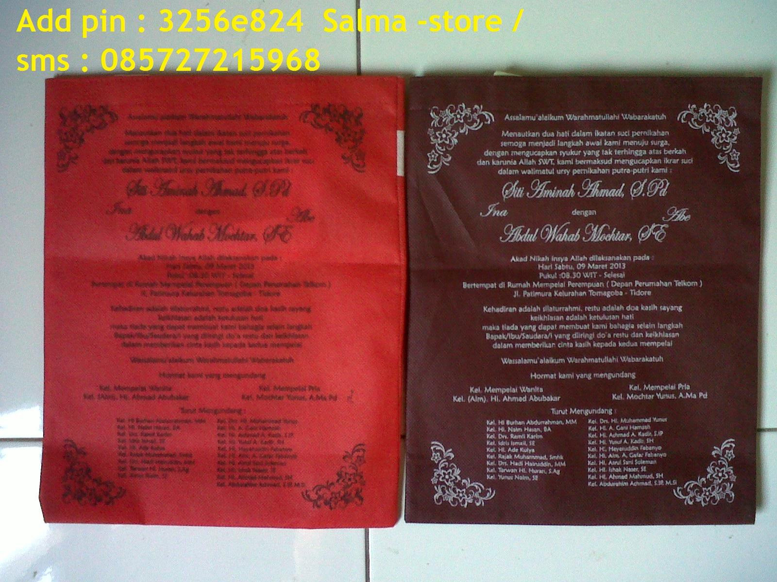 Pesanan Undangan Pernikahan batik Februari - Maret