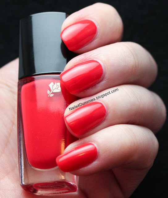 Nails4Dummies - Lancome Rouge In Love Swatch and Review