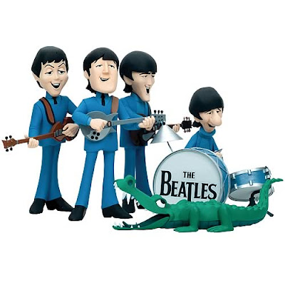 Beatles cartoon figures as figurines