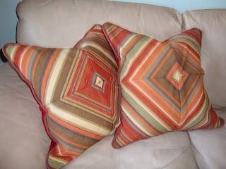 handmade red pillows
