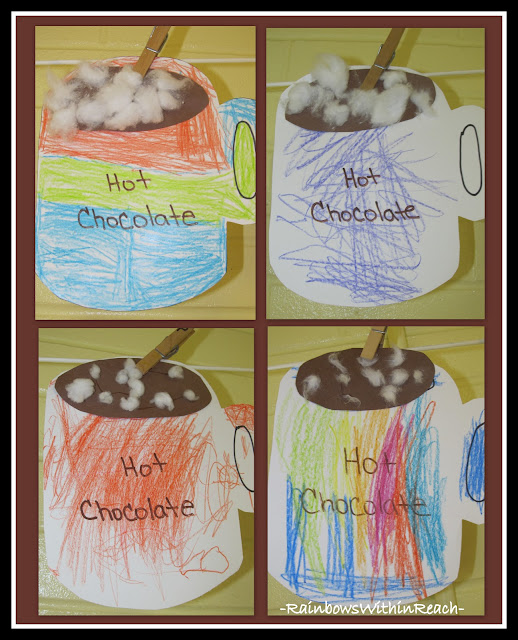 photo of: Hot Chocolate Coloring Project via RainbowsWIthinReach Winter RoundUP