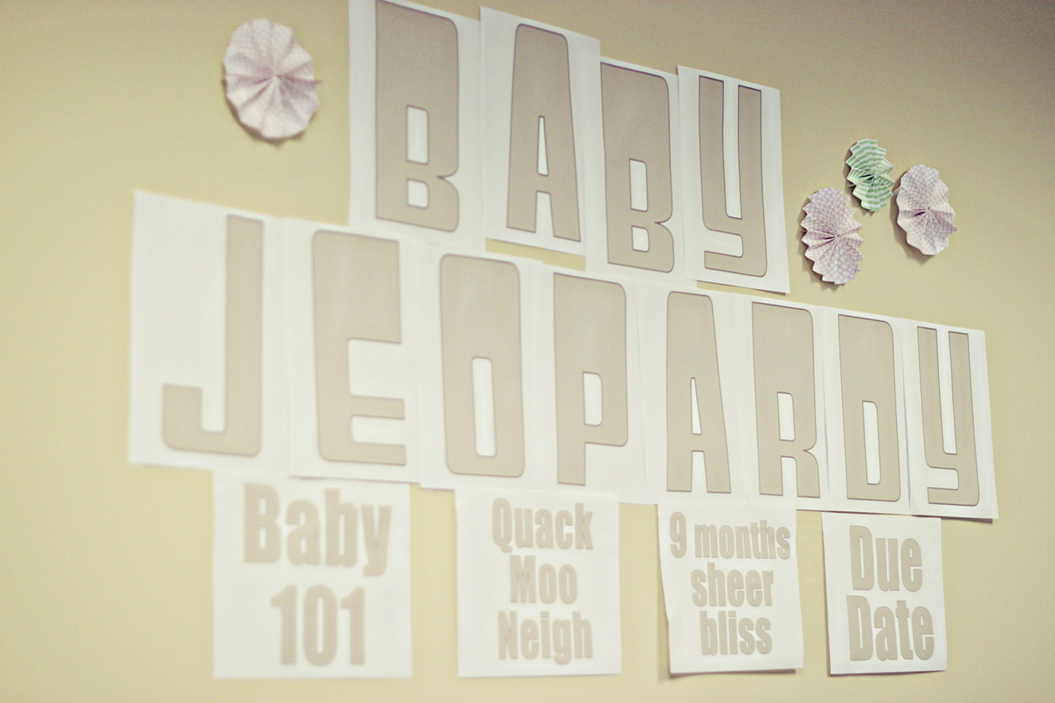 Free Baby Shower Printables! BABY JEOPARDY GAME