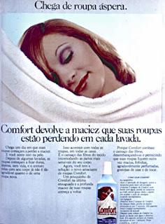 propaganda amaciante Confort - 1975. 1975. propaganda década de 70. Oswaldo Hernandez. anos 70. Reclame anos 70