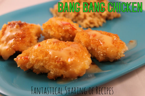 Bang Bang Chicken | Crunchy chicken bites with a sweet & spicy sauce | www.fantasticalsharing.com