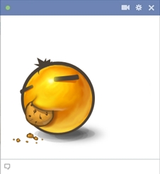 Nom Nom Facebook Emoticon Eating a Cookie