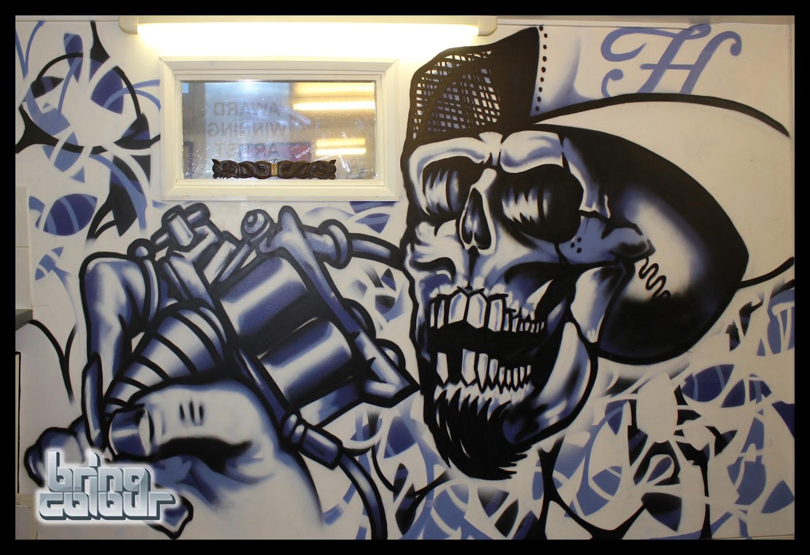 Tattoo Shop Exterior Interior walls, exterior walls