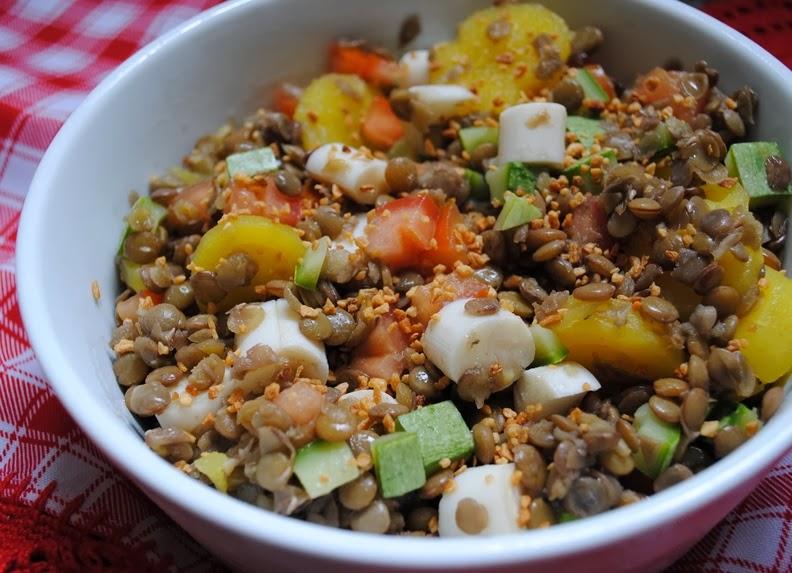 Salada de Lentilha (vegana)