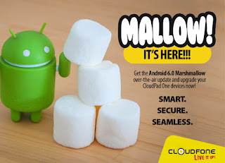 CloudFone Seeds Marshmallow Update To CloudPad One Devices