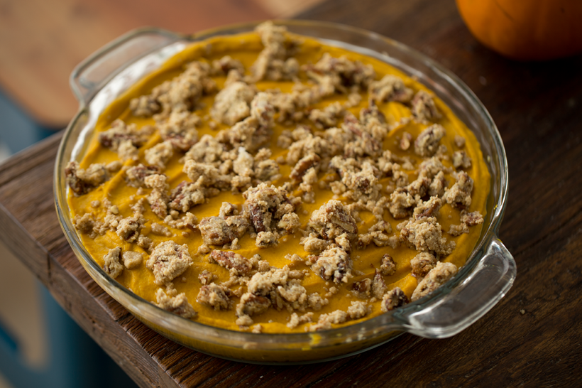 Baked Sweet Potato Oatmeal With Pecan Streusel Recipes — Dishmaps