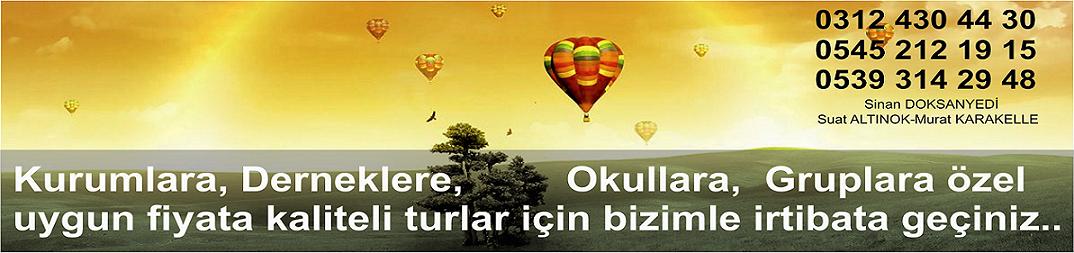 Ankara Çıkışlı Günübirlik Turlar, Ankaradan Günübirlik Turlar
