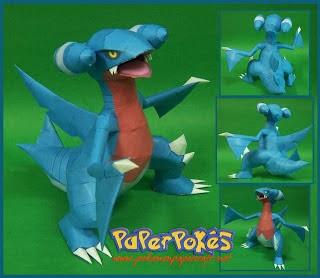 Pokemon Gabite Papercraft - Dragon Model