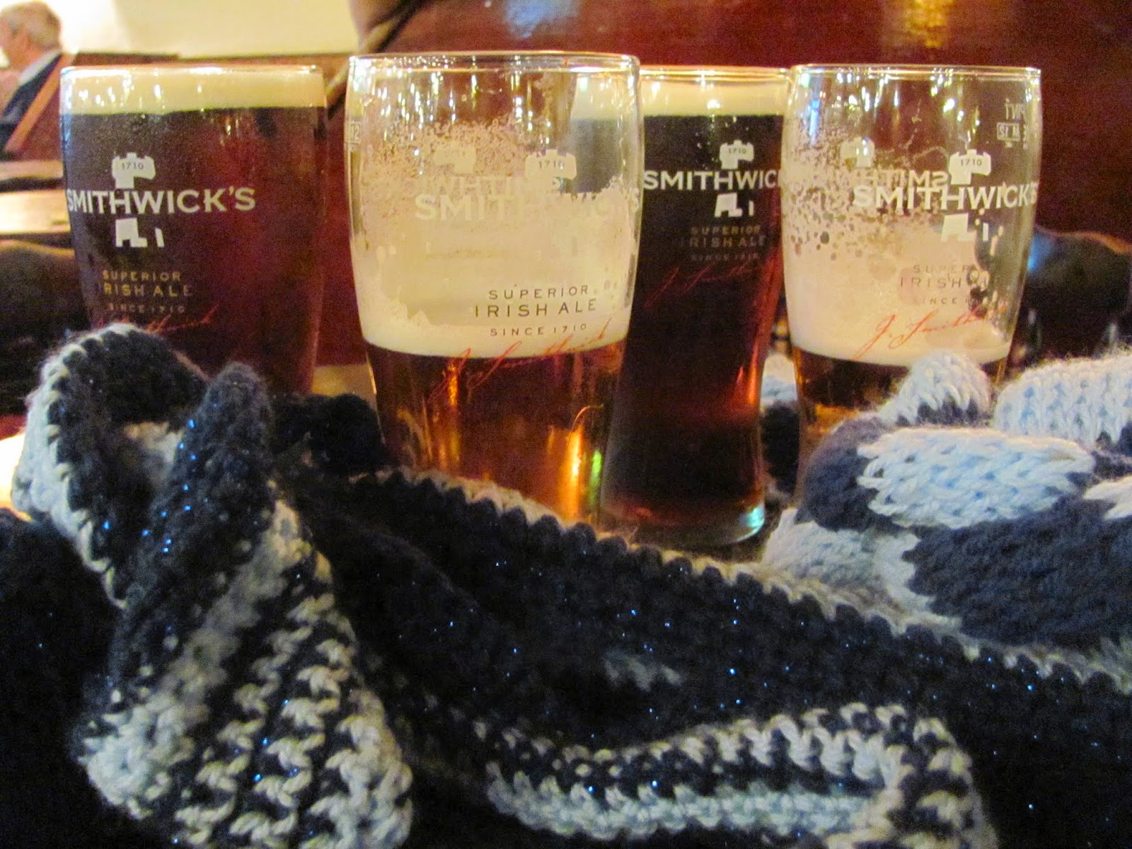 Smithwicks and Dublin scarves for Hurling