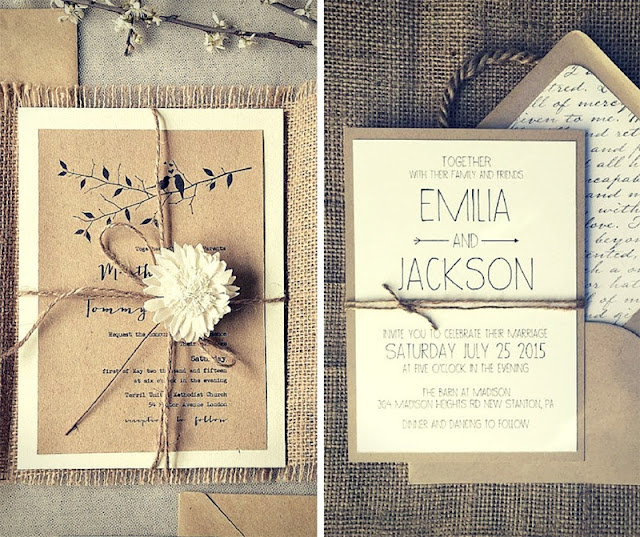 покани за сватба с канап и зебло