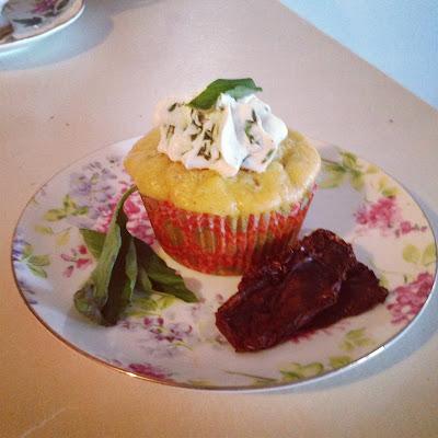 Cupcakes & Couture: Sun-Dried Tomato, Basil & Gorgonzola Cupcakes