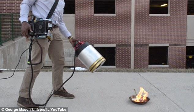 جهاز إطفاء النار بالصوت