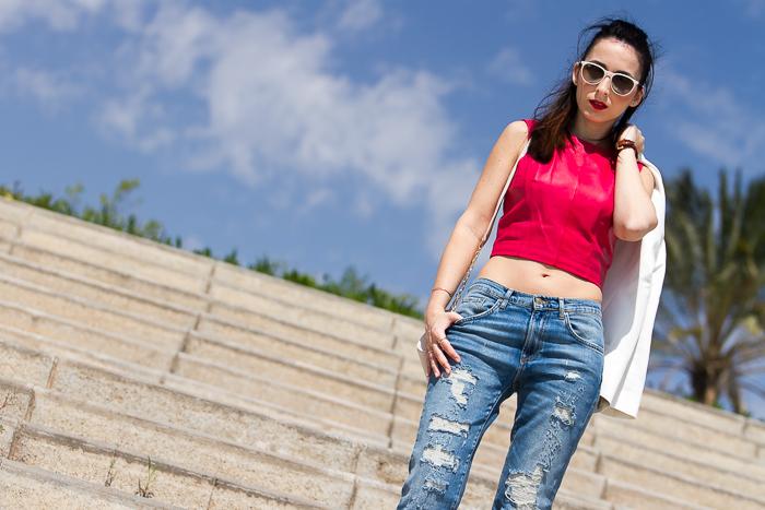 Colección prendas de piel y cuero de la Blogger de moda valenciana withorwithoutshoes