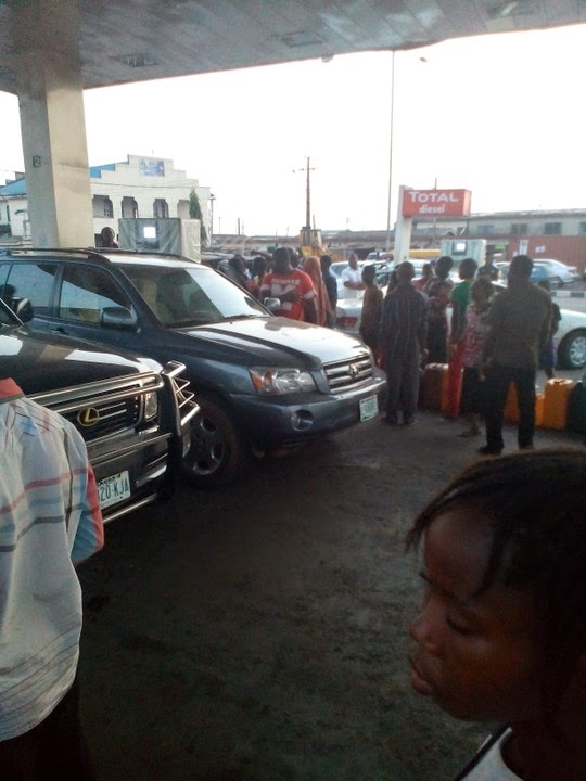 fuel scarcity lagos nigeria