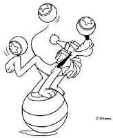 dessin_chien_pluto_equilibriste_jongleur